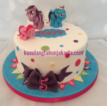 birthday cake little pony ungu jakarta