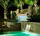 waterfall dan fountai kolam renang