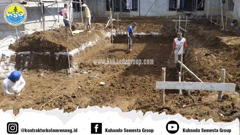 Pembuatan kolam renang private pool di Kutai Barat Kalimantan