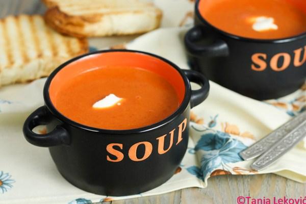 Čorba od pečenih paprika / Grilled peppers soup
