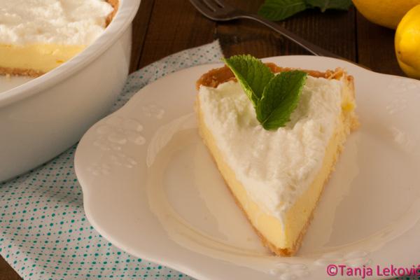 Kremasta pita sa limunom / Cream lemon pie