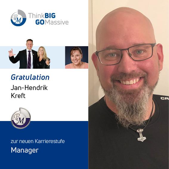 PM-International Congratulation Jan-Hendrik Kreft Manager