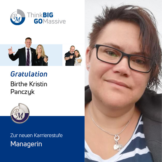 PM-International Congratulation Manager Birte Panczyk