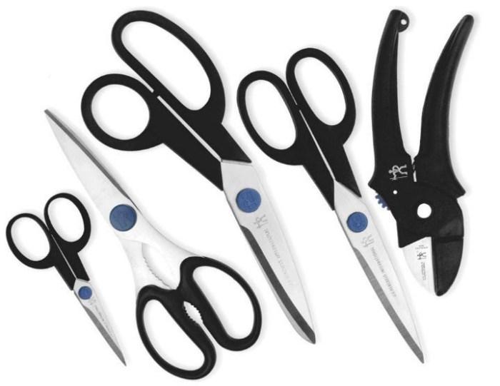 Различные варианты кухонных ножниц