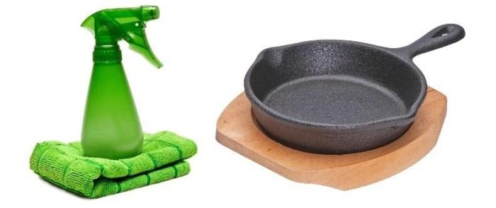 Чугунная сковорода и средство от нагара