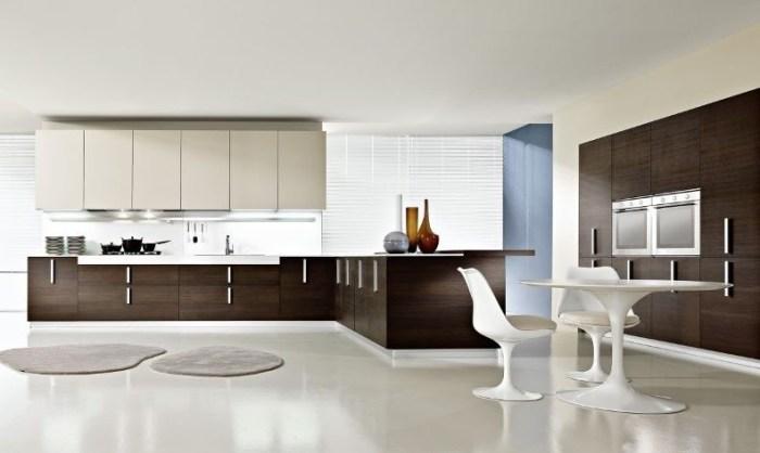 Стиль минимализм в интерьере кухни