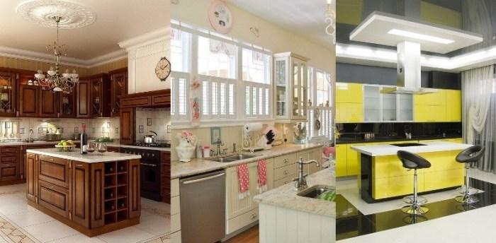 Направления стилей кухни: классика, ретро, современная