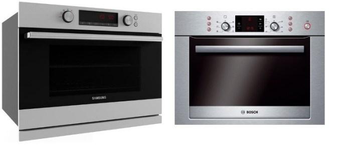 Встраиваемые духовые шкафы с СВЧ фирм Samsung и Bosch