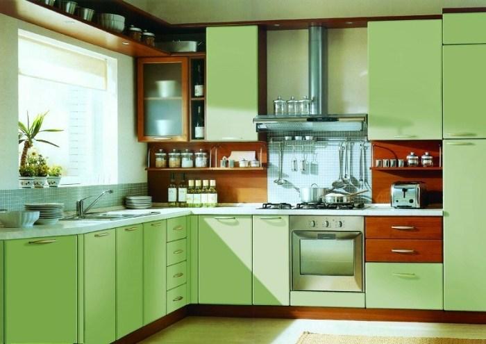 Духовой шкаф, подобранный по цвету к интерьеру кухни