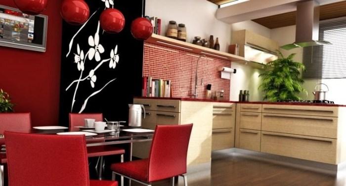 Китайский интерьер на кухне