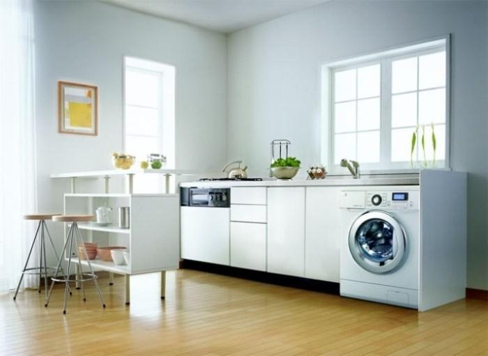 Кухня со встроенной стиральной машиной