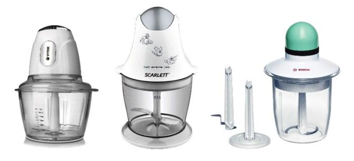 Электрические измельчители Vitek, Scarlett, Bosch