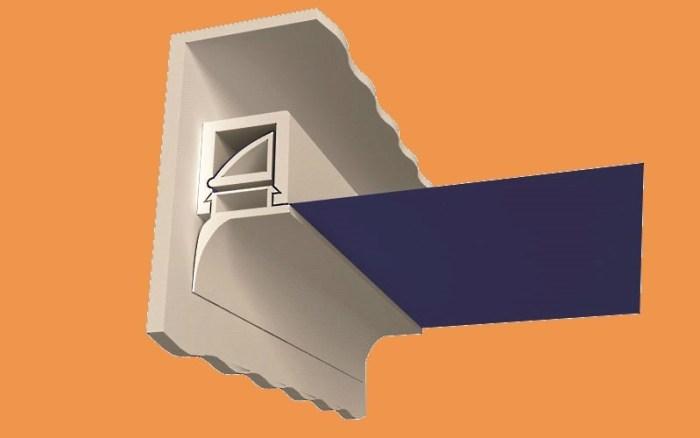 Профиль для крепления натяжного потолка