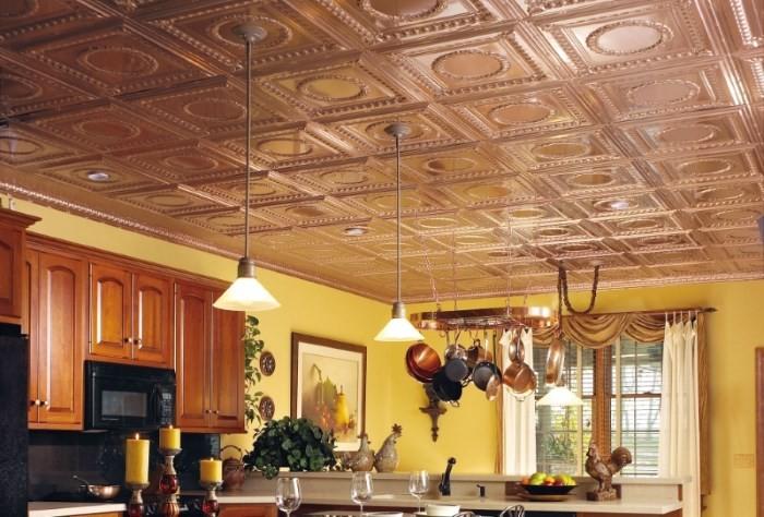 Ламинированная плитка для потолка