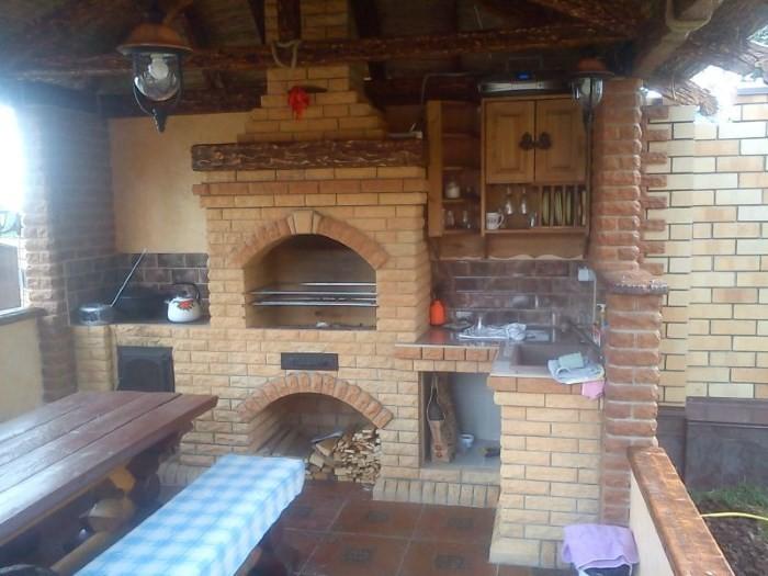 Летняя кухня с печью