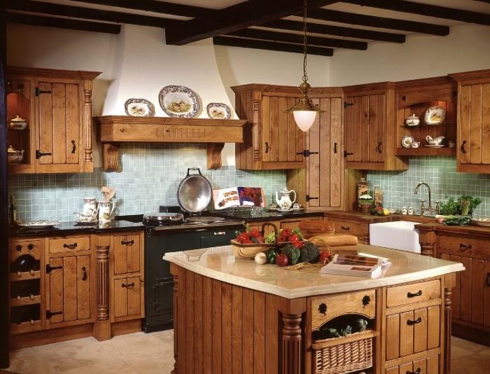 Мебель в деревенской кухне