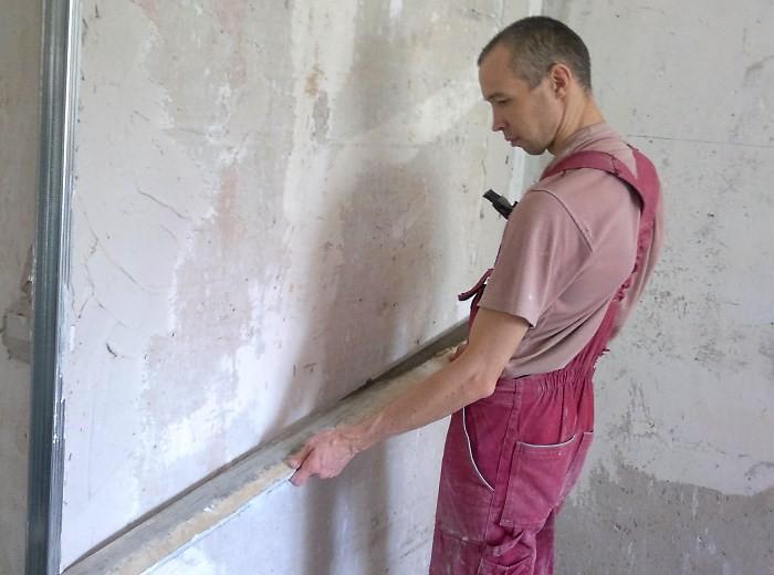 Выравнивание стен на кухне