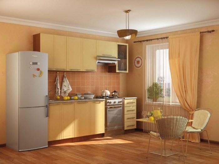 Бежевый цвет в интерьере кухни