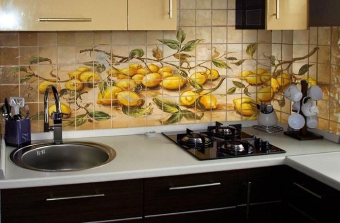 Красивый фартук на кухне