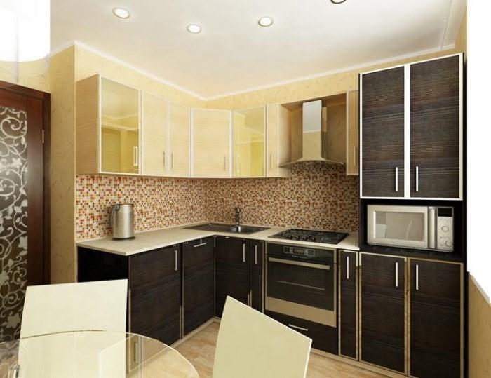 Интерьер кухни 9 кв