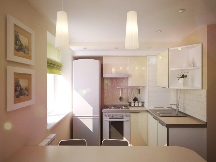 Мебель на маленькой кухне