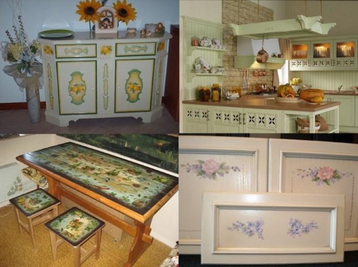 Декор мебели на кухне