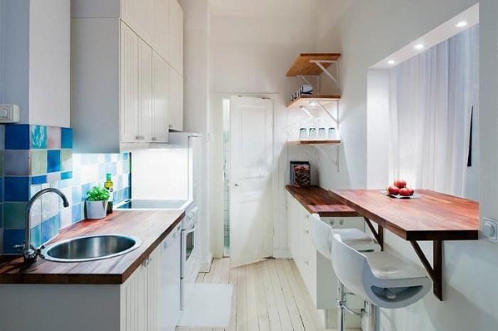 Вариант использования подоконника на кухне