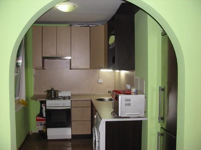 Арка вместо двери на кухне в хрущевке