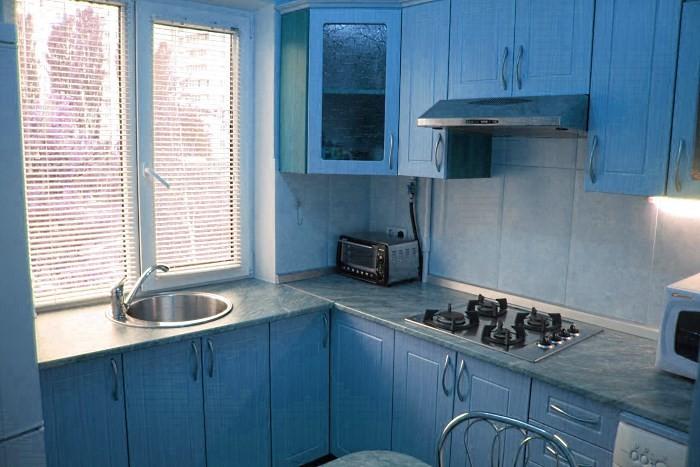 Подоконник на кухне в хрущевке