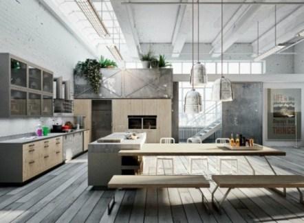 Галерея кухонь в стиле лофт, часть 3