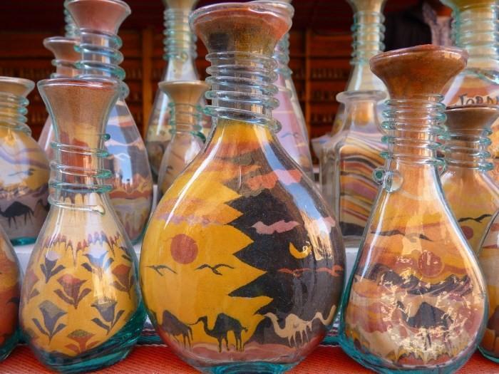 Декоративные бутылки с цветной солью