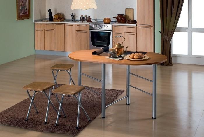 Кухонный стол овальной формы