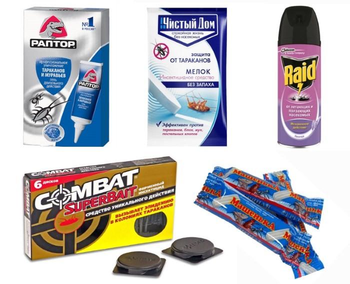 Средства от тараканов: ловушка, мелок, аэрозоль, гель
