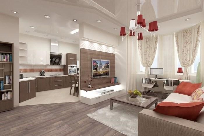 Кухня гостиная 25 кв метров