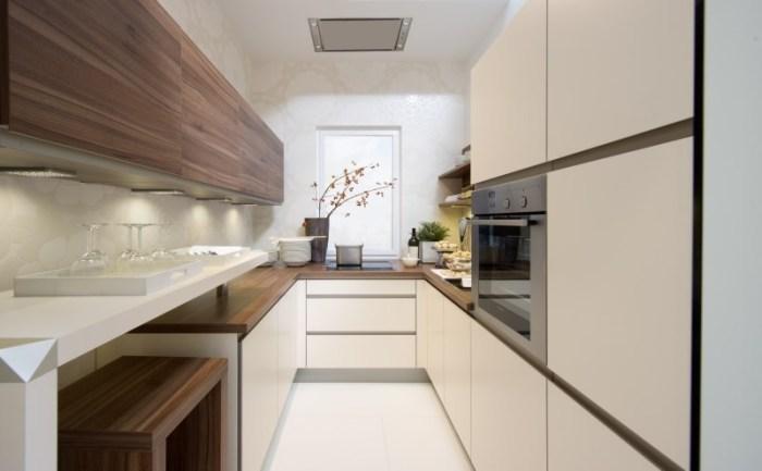 Кухня пенал 12 кв м