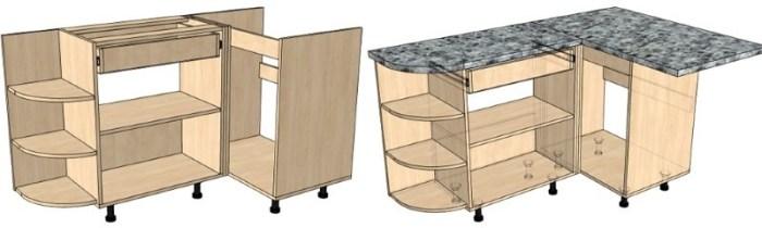 Каркас кухонной мебели