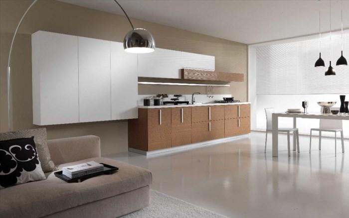 Шторы на кухне в стиле минимализм