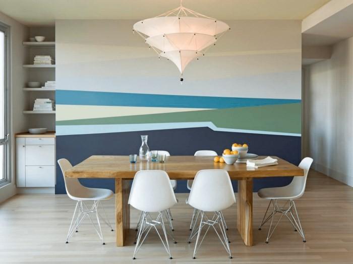 Вариант покраски стен на кухне