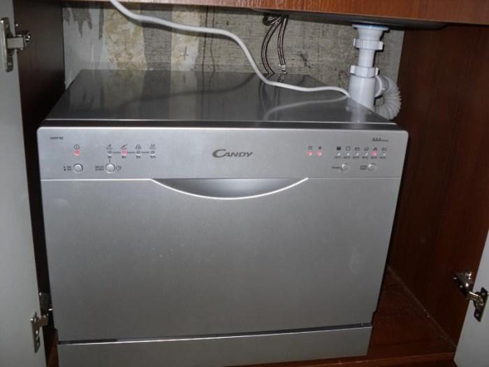 Установка посудомойки под раковиной