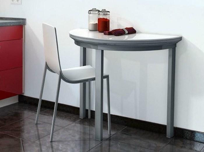 полукруглый раскладной кухонный стол