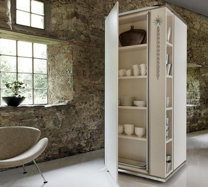 шкаф пенал на кухне