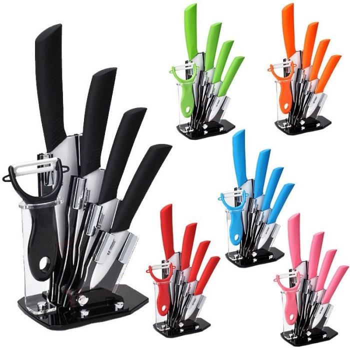Разноцветные наборы керамических ножей