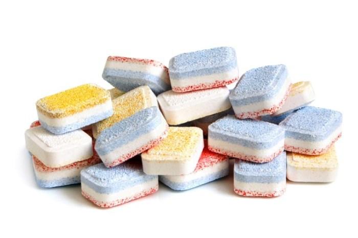 Разные таблетки для посудомойки