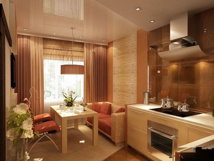 Зонирование кухни 15 кв метров