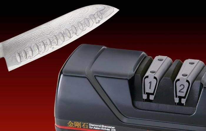 Как точить нож на ножеточке