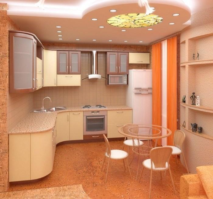 Освещение кухни модерн