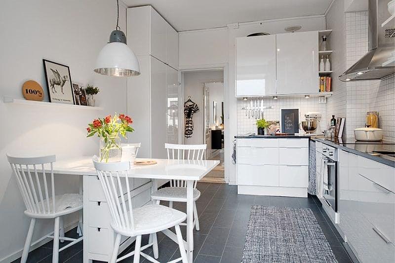 кухня 14 кв м дизайн фото 2
