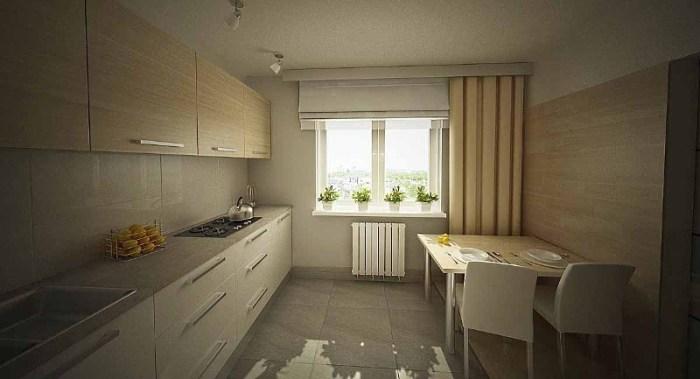 кухня на 10 квадратах в минималистичном дизайне