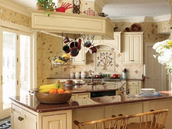 кухня 11 м в стиле кантри