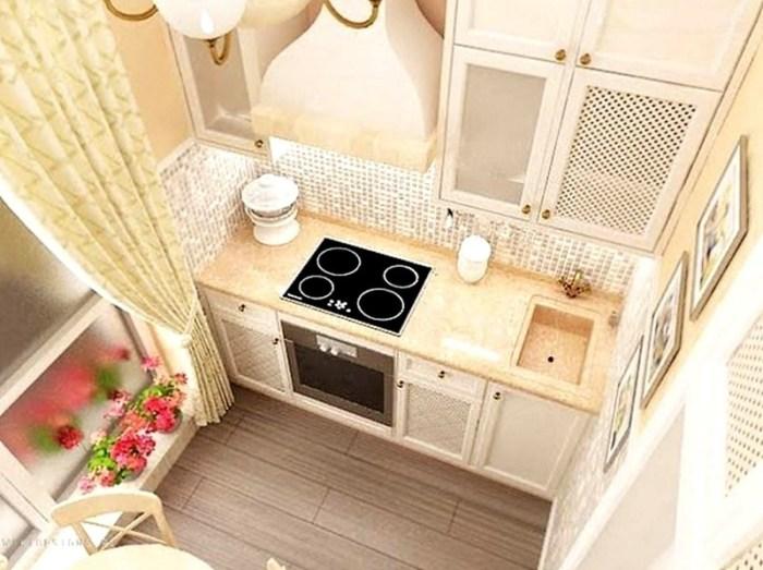 квадратная кухня 4 кв м